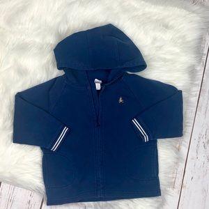 GAP Navy Blue Baby Gap Zip-Up Hoodie Sweatshirt